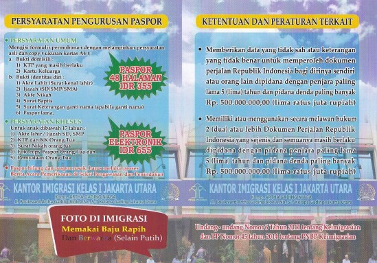 Persyaratan pengurusan passport